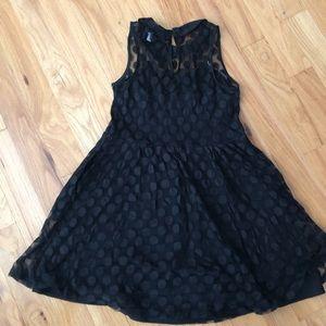 Adorable Polka Dot Black mini dress. Sz XL